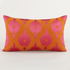 Warm Ikat Throw Pillow | World Market