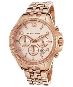 Men's Wrist Watches - Michael Kors Pilot Rose GoldTone Chronograph Mens Watch MK5425 ** For more information, visit image link. (This is an Amazon affiliate link)