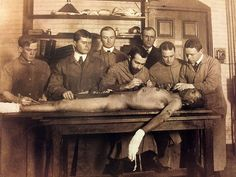 Harvard Medical School students, 1905.  From Dissection: Photographs of a Rite of Passage in American Medicine 1880-1930.