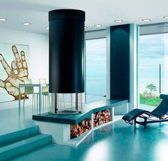 metlica redonda chimenea redonda chimeneas chimenea modernas carmelo chimenea moderna campana metlica de gran diseo de del espacio