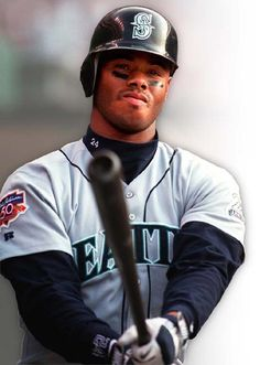 """Ken Griffey Jr.   """"Junior"""" or """"The Kid"""" is 6th on the list of most career home runs.  An outfielder, he was considered an excellent defensive player, winning 10 Gold Gloves and appearing in 13 All-Star games. Son of Ken Griffey, Sr, he played for the Mariners, the Reds, and the White Sox."""