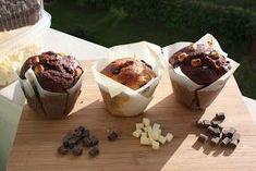 mis recetas dulces y saladas: muffins dos chocolates