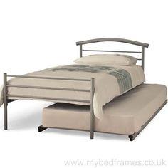 Brennington silver metal guest bed #bedroom #furniture