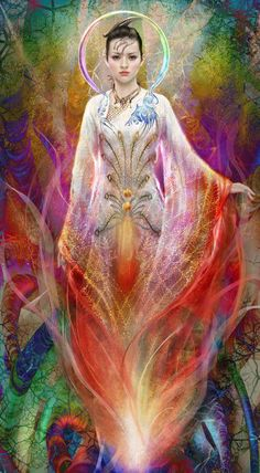 Usha - the Goddess of Dawn. Usha is dawn, daughter of the sky, lady of the light, who rouses all life. She stirs all creatures that have feet, and makes the birds of air fly up. She brings not just light to the sleeping mankind, but hope, happiness, riches and all the good things.