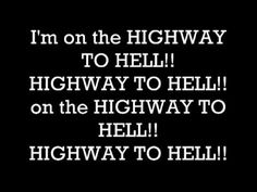 Day 6. A song that reminds me of somewhere. AC/DC - Highway to Hell. I haven't done much traveling in my time, so I struggled with this one. I tried to come up with something positive but...This reminds me of my middle school, guys!