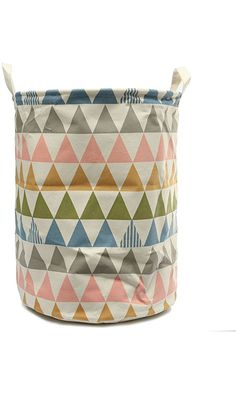 KINGSO Fabric Foldable Round Laundry Basket Hamper Closet Storage Bin Bag 4434.5cm Best Price