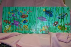 FISH  Painted with DECOART ACRYLICS & CANVAS MEDIIUM. Tutorial available refriedm@yahoo.com