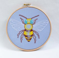 Beautiful Honey Bee on Blue Hoop £29.00