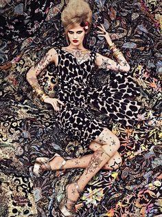 Patterns Vogue 2007 par Steven Meisel
