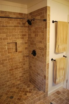 standing tile shower// another idea for our master bath