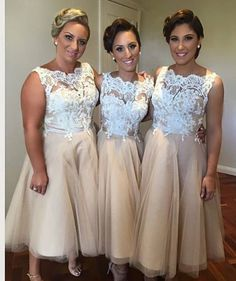 Love these vintage bridesmaid dresses!                              …