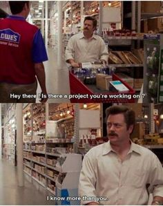 Ron Swanson. Woodworking