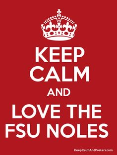 Keep Calm and LOVE THE  FSU NOLES  Poster