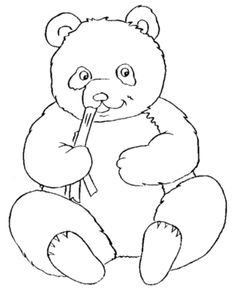 Cute Panda Bear Coloring Pages For Kids