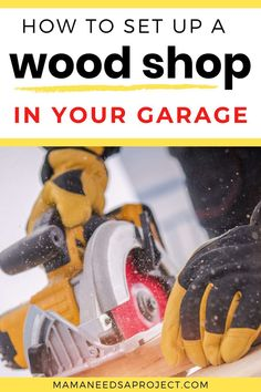 Make the most of your small garage woodshop with these 6 essential tips for woodworking in a small space. You don't need a ton of space or equipment to start woodworking. You can create a totally functional garage woodworking shop no matter how small your space is! Woodworking Education, Woodworking Tutorials, Best Woodworking Tools, Woodworking Supplies, Woodworking Wood, Lumber Storage Rack, Small Garage, Wood Worker, Wood Working For Beginners