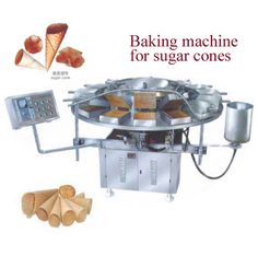 Baking Machine for Sugar Cones. Semi-automatic machines. Easy to use and robust. Energy Saving.Contact us!~