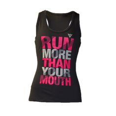 """ViewSport's sweat-activated technology reveals the additional motivational words """"run everyday"""" on the back after you work up a good sweat."""