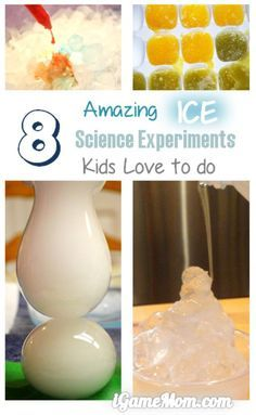 Amazing ice science experiments that your kids will ask for more! Especially love the one that you also get to eat some! Cool STEM learning activities for kids from preschool to school age.