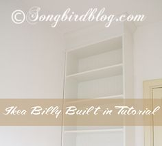 Billy Built-in Bookcase Tutorial