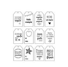 Etiquetas descargables para tus regalos. - Sweet dreams of scrap Paper Tags, Paper Gifts, Bf Gifts, Cafe Logo, Doodle Art Journals, Bullet Journal Ideas Pages, Handwriting Fonts, Paper Envelopes, Journal Cards