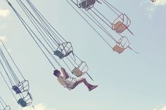 Swings in the sunshine. Shot by Ali Mitton