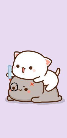 Chibi Cat, Gifs, Cute Cartoon Pictures, Little Panda, Cute Bears, Hello Kitty, Peach, Fictional Characters, Kittens