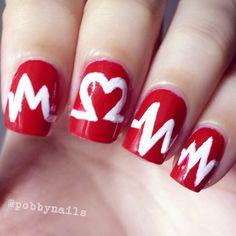 Heartbeat mani!! http://instagram.com/p/jKhRYzhehT/