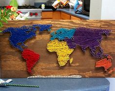 World String Art Sign, Made to Order