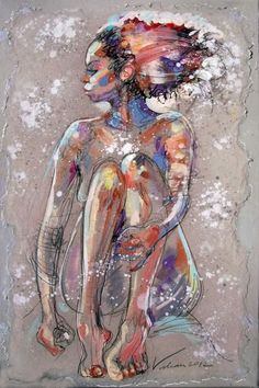 "fyblackwomenart: ""LAURIANE 10 by French Painter Raluca Vulcan """