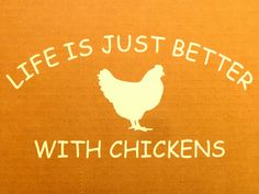 Life is Just Better with CHICKENS Fresh Eggs Daily Chicken Hen White Vinyl Car Window Bumper Sticker Decal. Chicken Signs, Chicken Life, Chicken Art, Chicken Coops, Chicken Quotes, Funny Chicken, Chicken Humor, Fresh Chicken, Chickens And Roosters