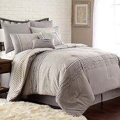 Camila 8-Piece Comforter Set in Taupe