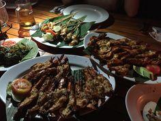 Seafood on the beach Jimbaran Bay