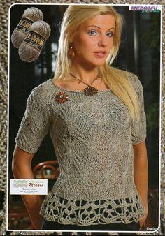 Stunning in black and silver shimmery lurex crochet Summer Knitting, Lace Knitting, Knitting Designs, Knitting Patterns, Drops Design, Crochet Clothes, Knit Crochet, Women Wear, Tejidos