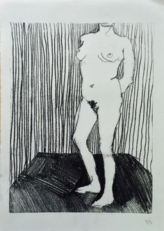 """Holly Froy """"Headless"""" Monoprint on paper"""