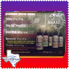 New Naked Fish E-liquid!!! Come in and try them out! Great flavors, and great clouds!!! #breatheinvapeout #newjuice #vapenaked #nakedfish