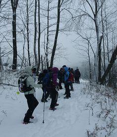 Départ de randonnée par une journée glaciale Crédit photo : MG Guiomar