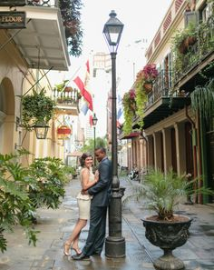 French Quarter New Orleans Engagement Photo Art de Vie