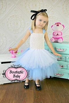 Wonderland Princess  Halloween Tutu dress.  All by BowtasticBaby2, $45.00