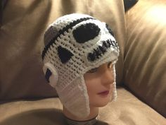 Crochet Storm trooper inspired hat Art Projects, Beanie, Star Wars, Inspired, Stars, Crochet, Character, Inspiration, Fashion
