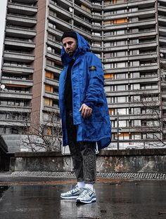 on Insta in this beautiful Stone Island parka 💙 Stone Island Parka, Island Wear, Rain Wear, Raincoat, Winter Jackets, How To Wear, Beautiful, Fashion, Rain Jacket