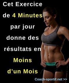 perdre du ventre: cet exercice fitness de 4 minutes par jour donne des resultats et un ventre plat en moins d'un mois #ventreplat #exercice #workout #fitness