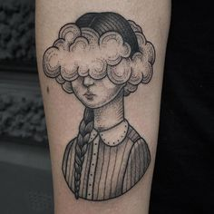 Surreal and Sweet Stippled Tattoos by Susanne König