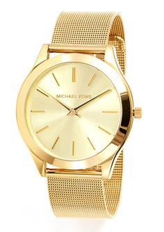 MICHAEL KORS Gold Ladies Slim Runway Bracelet Watch Michael Kors Sale, Designer Collection, Fashion Watches, Gold Watch, Bracelet Watch, Watches For Men, Jewelry 2014, Bracelets, Accessories