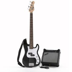 Gear4Music 3/4 Size Junior Bass Guitar and Amp BLACK Great value and superb quality pack that is ideal for younger players or anyone prefering a smaller and lighter bass guitar. Comes complete with a 15W bass amp cable and strap. Bass guitar colour: BLA http://www.comparestoreprices.co.uk/bass-guitars/gear4music-3-4-size-junior-bass-guitar-and-amp-black.asp
