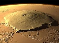 Olympus Mons on Mars is the tallest mountain on the planet and yet the youngest of the large mountains