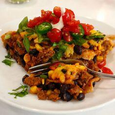 Taco Pie | WHAT the HECK do I eat NOW Easy Vegan Dinner, Vegan Dinner Recipes, Vegan Breakfast Recipes, Delicious Vegan Recipes, Dairy Free Recipes, Whole Food Recipes, Healthy Recipes, Lunch Recipes, Healthy Eats