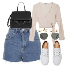 """Untitled #5348"" by rachellouisewilliamson on Polyvore featuring Topshop, Yves Saint Laurent, Samuji and Ray-Ban"