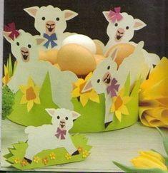HÚSVÉTI PAPÍRDÍSZEK - kisferenc.qwqw.hu Sheep Crafts, Owl Crafts, Diy And Crafts, Spring Crafts For Kids, Spring Projects, Paper Punch Art, Diy Ostern, Easter Art, Spring Art