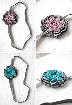 crochet flower headbands