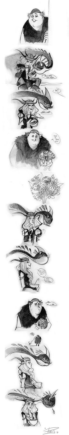 This is so adorable :3 I love How to Train your Dragon